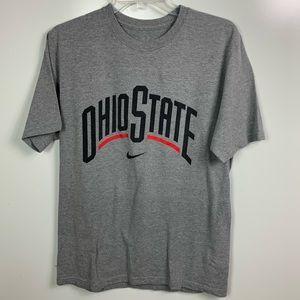 Nike Ohio state short sleeve shirt gray mens med